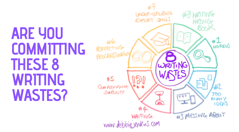 Are you committing these 8 Writing Wastes? (The 8th Writing Waste is a killer)